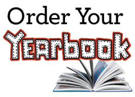 order your yearbook with an image of a book on it s back with the pages flipping past
